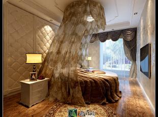 公主房间。执着的姑娘一定要这个圆床,不然不住 哈哈~,160.0平,38.0万,欧式,四居,白色,卧室,