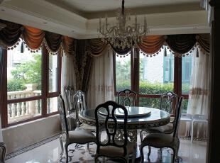 餐厅,650平,800万,新古典,别墅,餐厅,原木色,白色,
