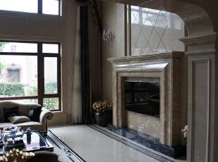 一楼看客厅,650.0平,800.0万,新古典,别墅,客厅,白色,