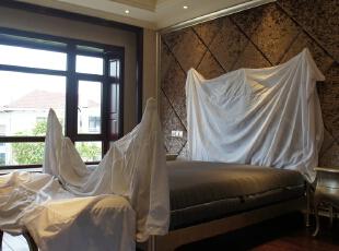主卧室完工时拍,650.0平,800.0万,新古典,别墅,卧室,棕色,白色,