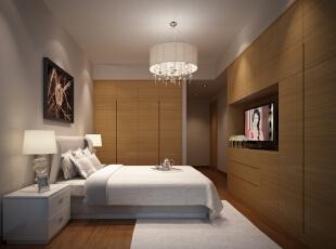 ,120平,35万,现代,三居,卧室,原木色,白色,