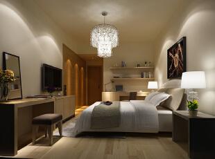 ,120平,35万,现代,三居,卧室,黄白,
