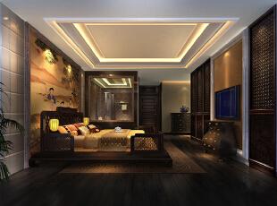 ,350平,120万,中式,复式,卧室,褐色,黄白,