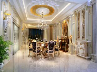,300平,200万,欧式,复式,餐厅,黄色,白色,