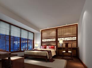 ,1000平,120万,中式,别墅,卧室,原木色,白色,