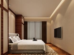 ,120平,40万,现代,三居,卧室,