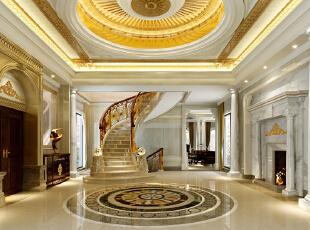 ,2000平,260万,欧式,别墅,玄关,黄色,白色,