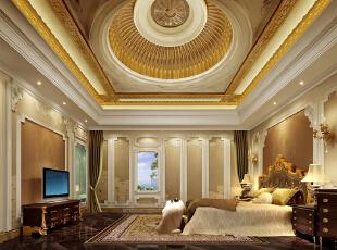,2000平,260万,欧式,别墅,卧室,黄白,