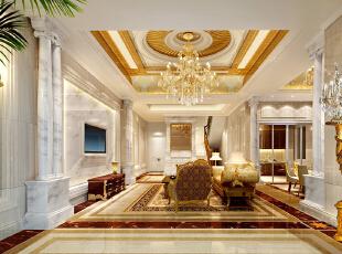 ,800平,200万,欧式,别墅,客厅,黄色,白色,