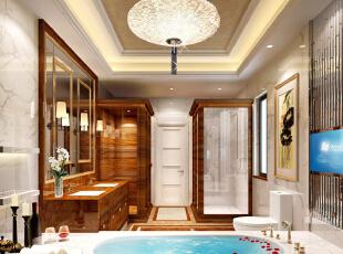 ,800平,200万,欧式,别墅,卫生间,原木色,黄白,