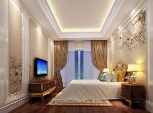 ,800平,200万,欧式,别墅,卧室,黄白,