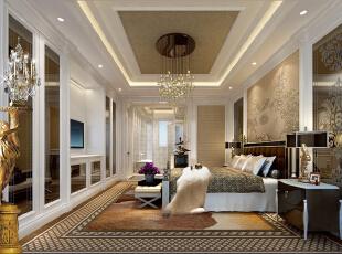 ,300平,150万,欧式,复式,卧室,棕色,黄白,