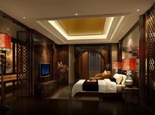 ,500平,200万,中式,别墅,卧室,