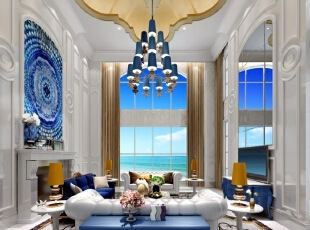 ,500平,150万,欧式,别墅,客厅,