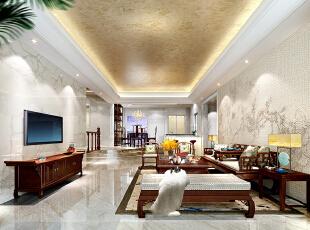 ,260平,80万,中式,跃层,客厅,黄白,
