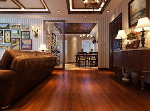 ,139平,15万,中式,三居,客厅,餐厅,玄关,新古典,美式,原木色,