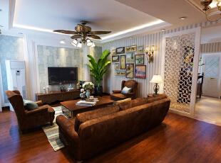 ,139平,15万,中式,三居,客厅,美式,新古典,原木色,