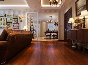 ,139平,15万,中式,三居,客厅,原木色,
