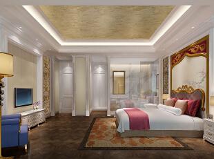 ,600平,200万,欧式,别墅,卧室,黄色,白色,