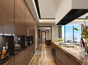 ,320平,120万,现代,大户型,厨房,原木色,