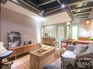 ,69平,9万,宜家,两居,客厅,淡紫色,