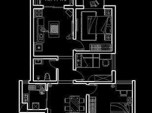 【绿都丹石街区小区95平装修】现代简约风格-户型图,95平,6万,现代,三居,