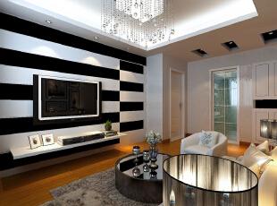 ,78平,55800万,现代,两居,客厅,浅棕色,黑白,