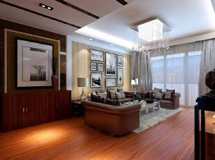 ,123平,83800万,现代,三居,客厅,原木色,黄白,