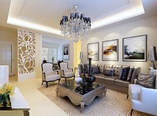 ,119平,79800万,欧式,三居,客厅,白色,