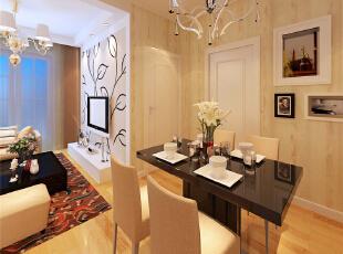 ,44平,4万,现代,一居,客厅,餐厅,黄色,黑白,