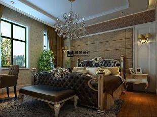 海马壹号公馆183平方三室两厅现代欧式装修效果图 卧室,183平,13万,现代,四居,卧室,棕色,黄白,
