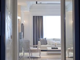 ,130平,18万,欧式,三居,客厅,白色,