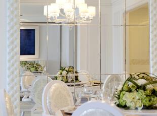 ,130平,18万,欧式,三居,餐厅,白色,