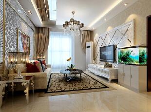 ,98平,42万,现代,两居,客厅,简约,红色,黄色,
