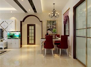 ,98平,42万,现代,两居,餐厅,简约,红色,黑白,粉色,