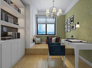 ,98平,42万,现代,两居,书房,简约,黑白,绿色,