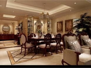 ,200平,50万,新古典,公寓,餐厅,原木色,黄白,