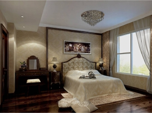 ,200平,50万,新古典,公寓,卧室,棕色,黄白,