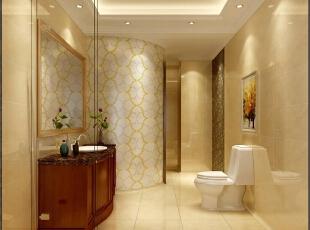 ,200平,50万,新古典,公寓,卫生间,黄白,