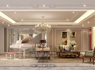 美式新古典风格开始于19世纪晚期并延续到现在。既简约大气,又集各地区精华于一身的独特风格,充分体现了简洁大方、轻松的特点,居住非常具有人性化。具有注重生活细节、古典情怀,融合多种风情于一体的特点。,730平,300万,美式,别墅,客厅,深绿色,白色,