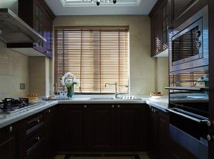 ,120平,18万,欧式,三居,厨房,褐色,白色,