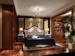 ,188平,15万,美式,四居,卧室,棕色,原木色,白色,