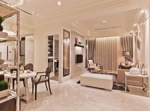 ,138平,8万,欧式,三居,客厅,粉色,白色,