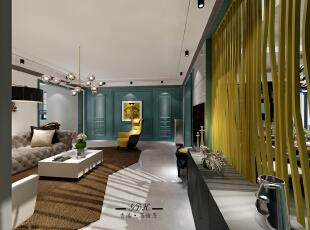 ,140平,88万,混搭,三居,客厅,灰白,绿色,黄色,