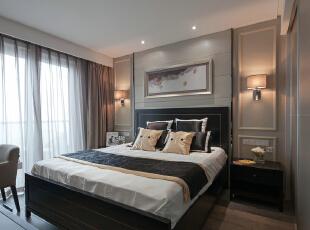,120平,18万,现代,三居,卧室,棕色,咖啡色,