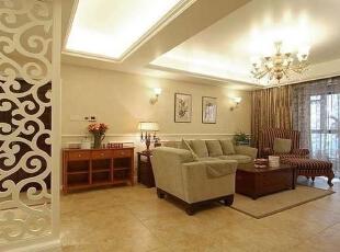 ,130平,17万,混搭,三居,客厅,米黄色,原木色,