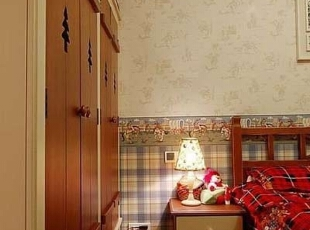 ,130平,17万,混搭,三居,卧室,米黄色,