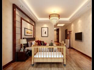 ,173平,13万,中式,四居,卧室,红木色,米黄色,