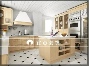 ,155平,15万,现代,别墅,厨房,米黄色,