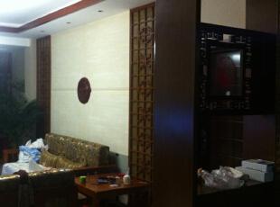 背景墙是硅藻泥!,252.0平,25.0万,中式,跃层,客厅,褐色,白色,